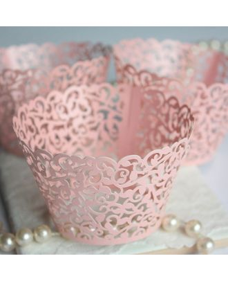 Pink Cupcake Wrappers for MINI or Standard Cupcakes