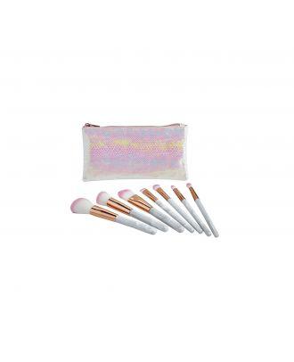 Rose Gold Colour 7 Piece Make-up Brush Set