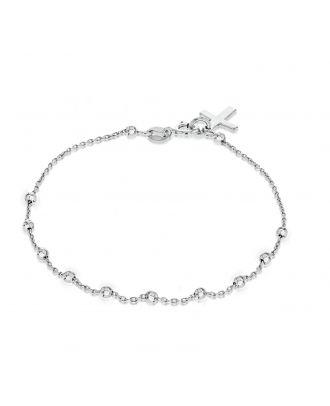 Sterling Silver Religious Charm Bracelet