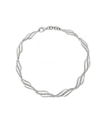 White Gold Diamond Accent Bracelet