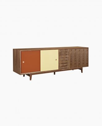Red And Yellow Alma Sideboard