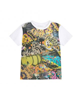 Boys Cotton Graffiti T-Shirt