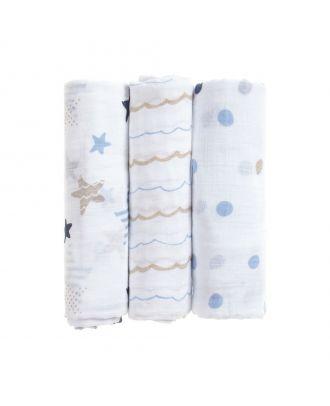 Cotton Muslin Cloths (3Pk)
