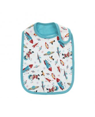 Cotton Space Baby Bib