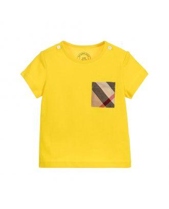 Yellow Check Pocket T-Shirt