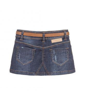 Girls Blue Denim Skirt