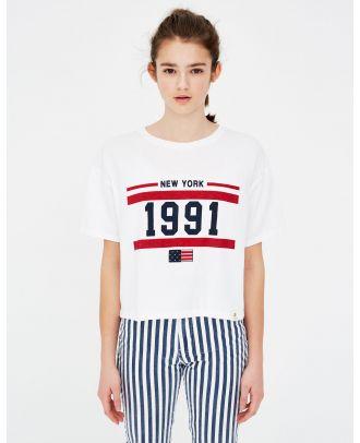 Basic T-shirt with flag