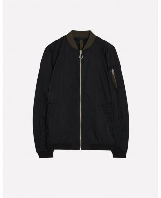 Hoodeds poplin jacket