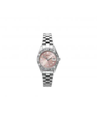 Sekonda Ladies' Pink Sunray Dial Stone Set Watch