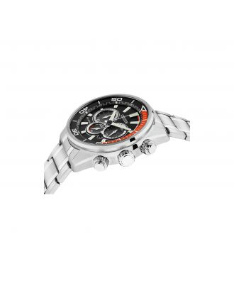 Citizen Men's Eco-Drive Orange and Black Chronograph Watch
